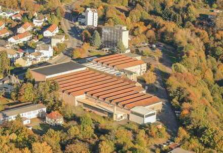 Gewerbeareal mit Bürohochhaus und mehrere Fabrikhallen, größtenteils vermietet