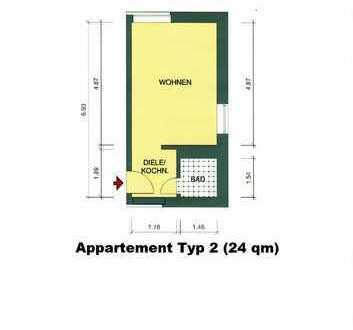 Ruhige, saubere Appartements / 4 km bis Mensa II / 7 km zum Schloss / 3 km bis BAB