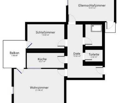 Modernisierte 3 Raum-Wohnung mit Balkon und Einbauküche in Wangen im Allgäu Am Waltersbühl