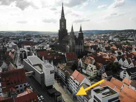 Helle Erdgeschoss-Gewerbeimmobilie im Ulmer Stadtzentrum für Einzelhandel, Ausstellung, o.ä.