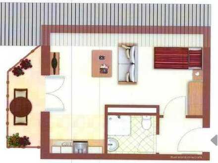 1-Zimmer-DG-Wohnung mit Balkon und Einbauküche in Rheinfelden-Herten