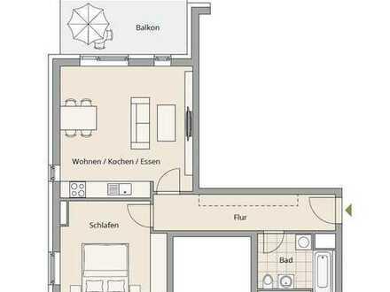 Stilvolle 2-Zimmer-Wohnung mit Balkon und EBK in Schwabing, München