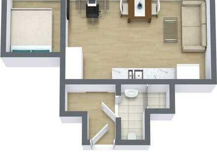 Klein aber fein: stilvolle 2-Zimmer-Wohnung mit EBK in Dortmund lmöbliert!!