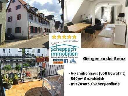 6-Familienhaus (voll vermietet) + Nebengebäude auf Grundstück im Zentrum (ruhige Anwohnerstraße)!