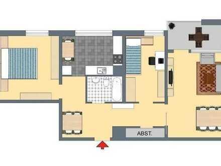 Komplett sanierte 3 Zimmer Wohnung mit SW-Loggia in Dortmund-Marten