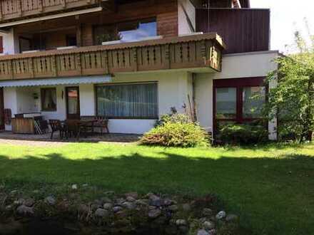 Viereinhalb Zimmer Garten-Wohnung fußläufig zum Zentrum Oberstaufens