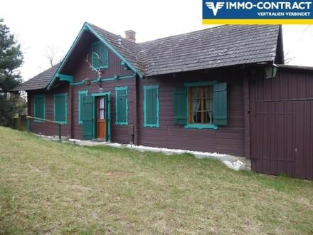 Jagdhütte Blockhaus in Ruhelage Wochenende oder Hauptwohnsitz Ötscherblick !