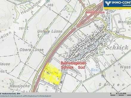17.702m² GROSSES BETRIEBSGRUNDSTÜCK SCHRICK-SÜD € 39,00/m²; AUTOBAHNANSCHLUSSNÄHE