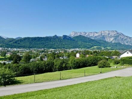 Traumhaftes Baugrundstück in Aussichtslage mit 1.500 m² Grundstücksfläche - 5400 Hallein / Adneter Riedl