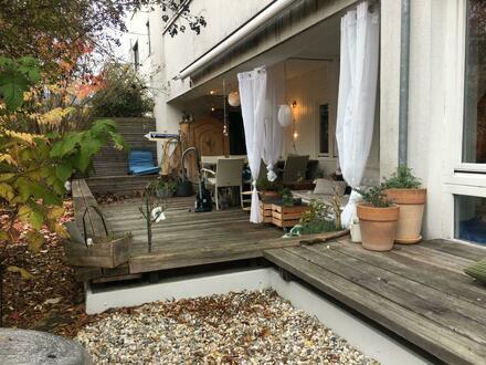 Barrierefreie Terrassenwohnung mit Blick in den Garten