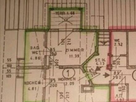 Provisionsfreie 2 Zimmer Dachgeschosswohnung