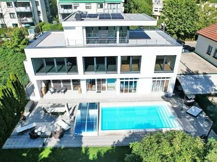 Moderne, exklusive Villa mit Pool in traumhafter Grünruhelage am Wolfersberg