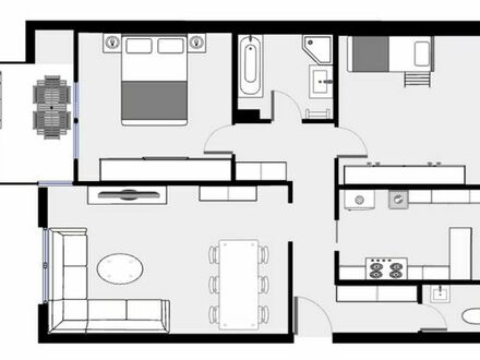3-Zimmer Wohnung in Bissingen mit TG - 2009 saniert