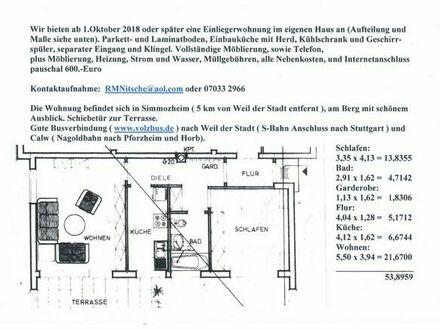 2-Zimmer-Einliegerwohnung in Simmozheim