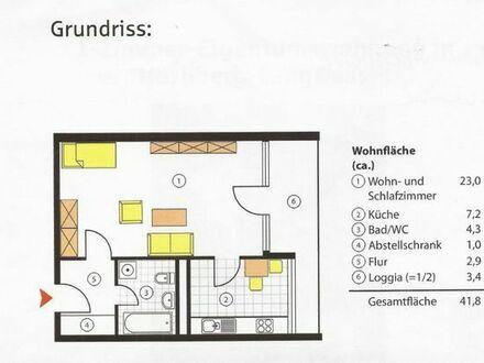 1 Zimmerwohnung m. EBK, Bad, Balkon in 90471 NÜRNBERG, GRÜNTENWEG