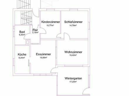 Vermiete 4 Zimmer mit Wintergarten in ruhiger Wohnlage
