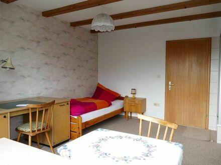 Möbliertes Balkonzimmer mit Dusche und Kochgelegenheit