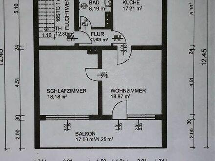 Großzügige 71m2 2 Zi. EG-Wohnung mit Küche, Bad, Balkon u. Parkplatz
