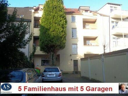 5 Familienhaus mit Teilungserklärung, 8 Süd-Balkone und 5 Garagen!