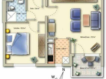 Senioren 2- Zimmer Wohnung ab 60 mit Einbauküche Pforzheim Weststadt mit AWO Service