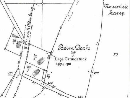 Traum Baugrundstück und 15.000 qm Ackerland am Haus / Pferdehaltung am Haus/ Ostseenähe