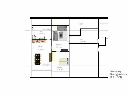 Schöne Wohnung 2ZKB 82qm in Mücke Atzenhain