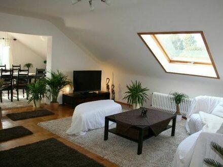 Möblierte4-Zimmer-Dachgeschosswohnung im Karlsruher Märchenviertel (Rüppurr)