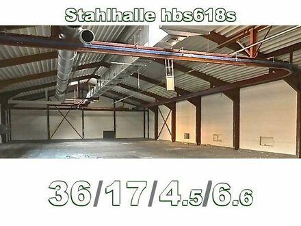 Abgebaute Stahlhalle 36x17x6.6m aus Abbruch