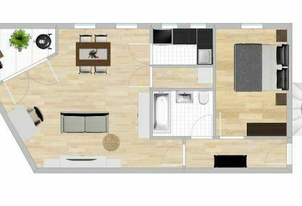Gepflegte 2-Zimmer-Wohnung mit Loggia und Einbauküche in Gilching