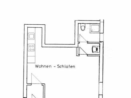 Schöne helle Einzimmerwohnung mit Bad und EBK, teilmöbliert