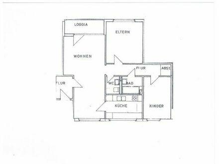 3 Zimmer Wohnung Nürnberg Langwasser mit Balkon