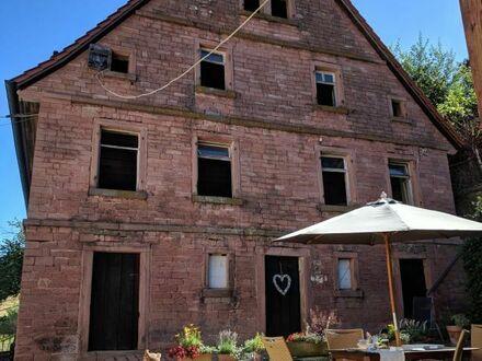 Bauernhaus Denkmalobjekt aus Sandstein