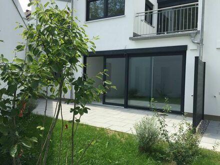 Ruhig aber zentral 3-Zi.-Whg mit Terrasse u. Gartenanteil in München, Neubau