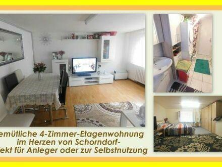 ++PERFEKTE Gelegenheit für Kapitalanleger!++4-Zimmer-Etagenwohnung im Herzen von Schorndorf
