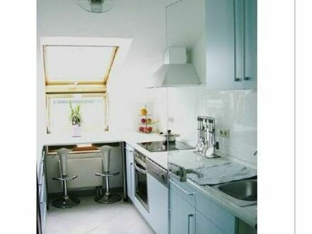 KA-Oberreut,Teilmöblierte,3-Zimmer-Dachgeschosswohnung/Loggia ab 01.09.19