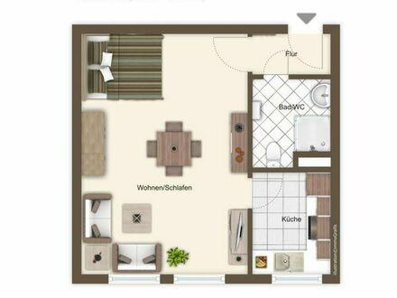 Exklusive, renovierte 1,5-Zimmer-Wohnung mit EBK in Karlsruher Innenstadt