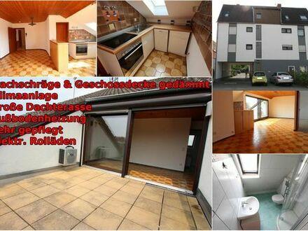Gepflegte 2-Zimmer-DG-Wohnung ( 59qm ) mit Balkonterasse und EBK in Schifferstadt, Klimaanlage
