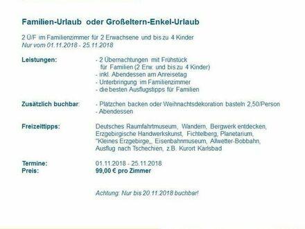 99EUR Familienurlaub in der Jugendherberge Johanngeorgenstadt November