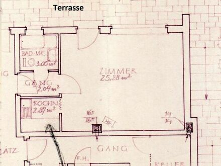 Ein-Zimmer-Appartement mit Terrasse und Gartennutzung