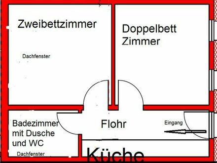 2 Zimmerwohnung Hannover-Mittelfeld für Pendler, direkt Messe-Nord