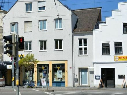 Büroflächen, 87 qm, 4 helle Räume, 1. OG, Stadtteil-Zentrum Lechhausen, neu saniert