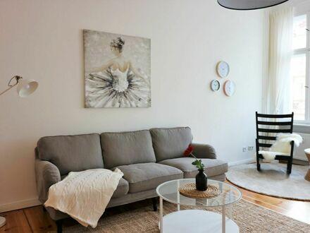 Skandinavisch möblierte 3,5-Zimmer-Wohnung im Szenebezirk Prenzlauer Berg