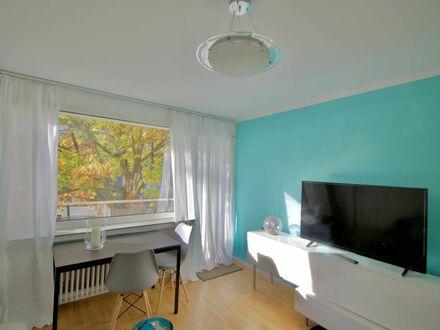 Düsseldorf/Neuss: Zentrales Apartment am Park mit Balkon