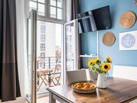 Apartment SC 1, 2 Schlafzimmer, Boxspringbett, WLAN/ WiFi, Waschmaschine, Trockner, Balkon
