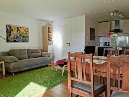 Gemütliches Apartment mit Terasse und Blick in den Garten