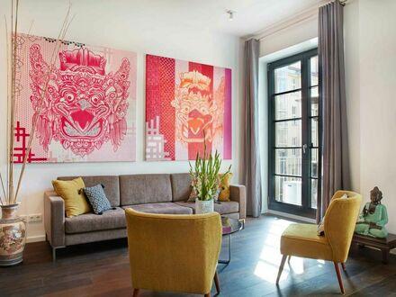 Modernes Apartment in Prenzlauer Berg mit asiatischem Flair und Pop-Art-Sammlung