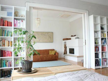 Wunderschöne 130 qm möbilierte 4-Zimmer Altbauwohnung im Herzen von Tempelhof mit Parkblick.