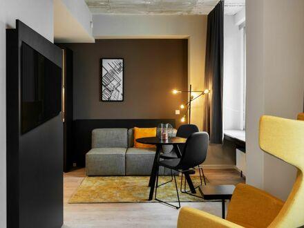 Studio-Apartment mit Doppelbett in schöner Lage