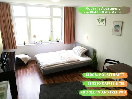 Modernes Apartment am Wald - Nähe Mainz und ZDF