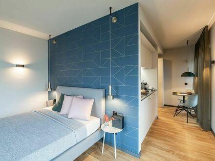 Design Serviced Apartment mit Terrasse direkt am Flughafen